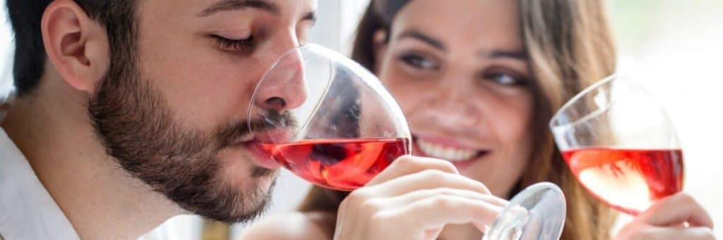 Couple at a wine tasting