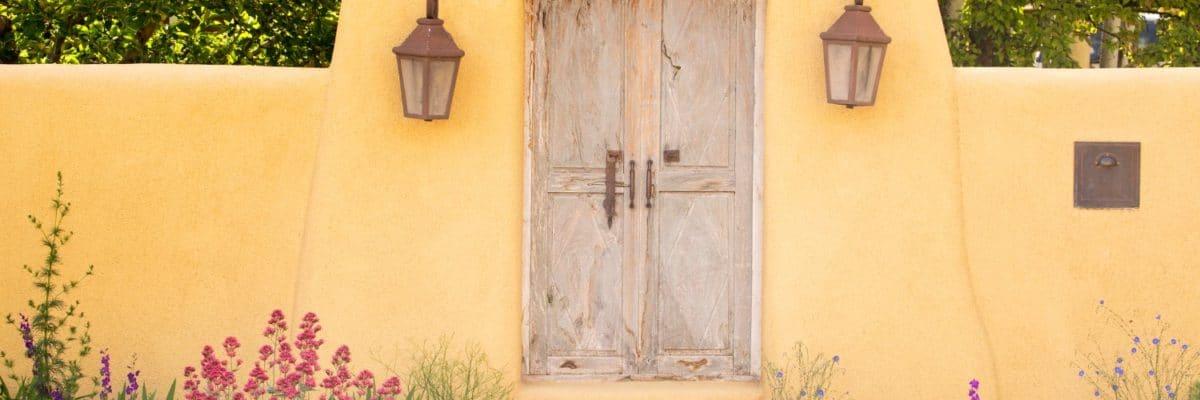 Entryway near Canyon Road in Santa Fe, New Mexico