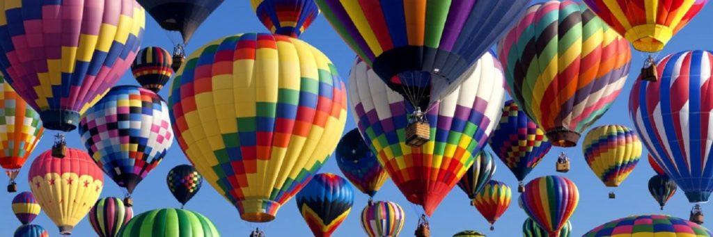 hot air balloons soaring through the sky