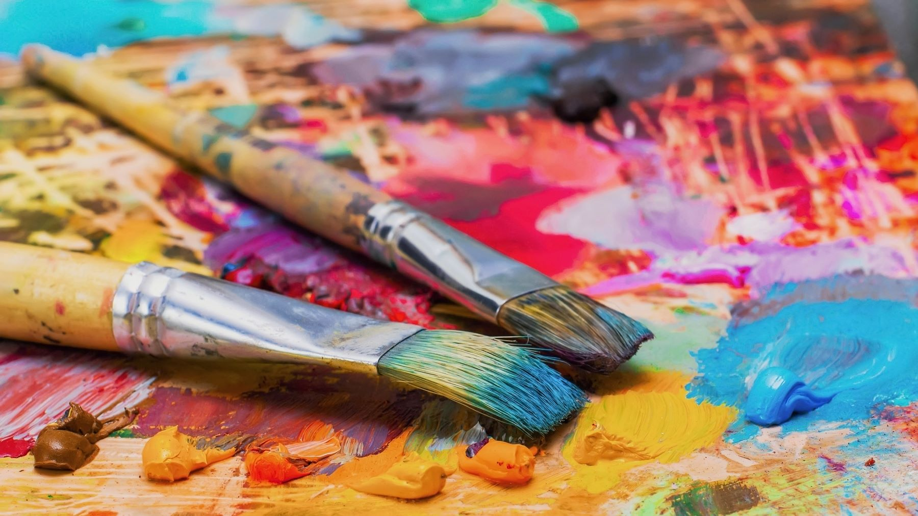 Paintbrushes and painting supplies