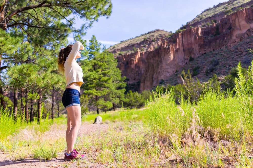 hiking in Santa Fe